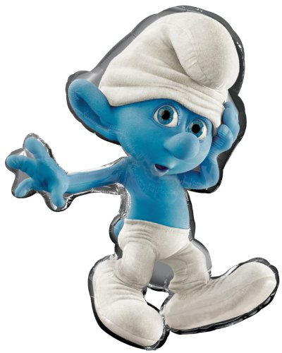 "Smurf 34"" Foil Balloon Child - 1"