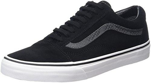 Vans Old Skool Scarpe da skater, Basse, Unisex, Adulto, Nero (Reptile Black/Tornado), 43