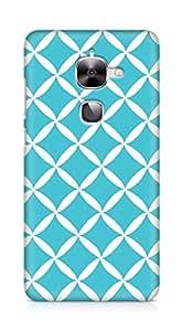 Amez designer printed 3d premium high quality back case cover for LeEco Letv Le 2 (blue white pattern)