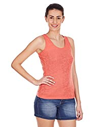 Elle Women's Tunic Top (EETS0182_Peach Melba_Medium)