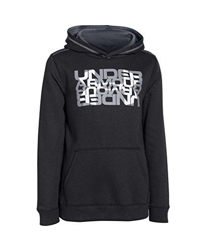 Under Armour Boys' UA Rival Fleece Logo X2 Hoodie Medium Black