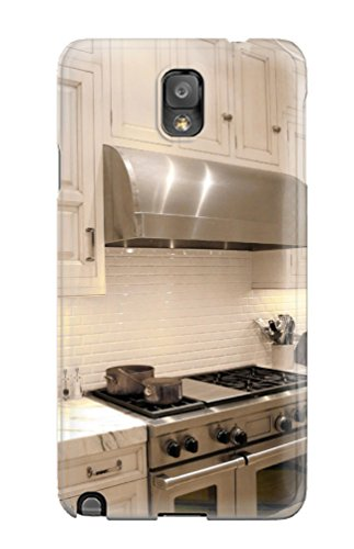 Hot White Traditional Kitchen With Stainless Stove Amp Vent Hood Plus Marble Countertop First Grade Tpu Phone Case For Galaxy Note 3 Case Cover (Countertop Hood compare prices)