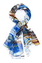 Autograph Pure Modal Brushstroke Striped Lightweight Scarf