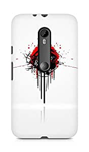 Amez designer printed 3d premium high quality back case cover for Motorola Moto G3 (Red white black figure)