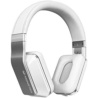 Monster 128794 Inspiration Active Noise-Canceling White Over-Ear Headphones