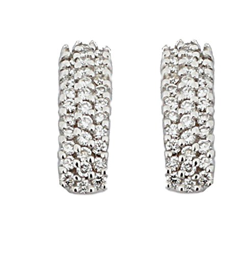 Orphelia Women's Earrings 18 Carat (750) White Gold Diamond White OD - 5195