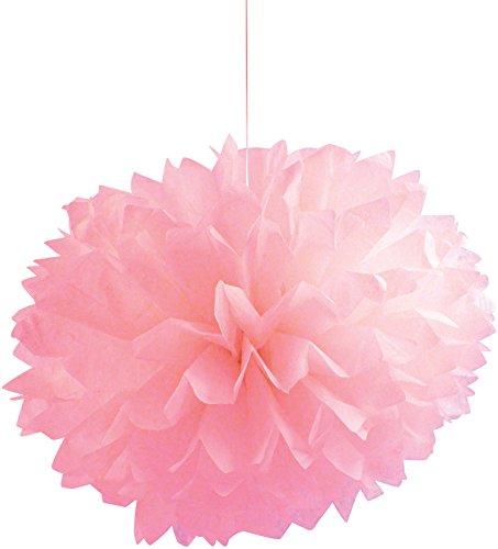 "Creative Converting 3 Count Fluffy Tissue Balls, 16"", Classic Pink"