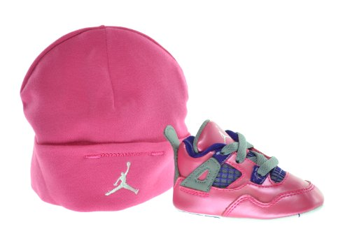 Jordan 4 Retro (GP) Infants Shoes Gift Pack Pink/White-Cement Grey-Electric Purple 487219-607-1