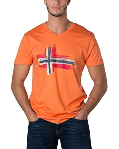 Geographical Norway T-Shirt Manica Corta Snht [Arancione]