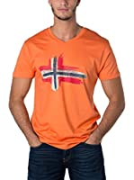 Geographical Norway Camiseta Manga Corta Snht (Naranja)