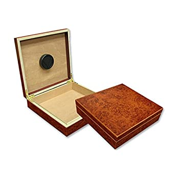 Prestige Import Group - The Chateau Small Humidor - Capacity: 20 Cigars - Color: Burl