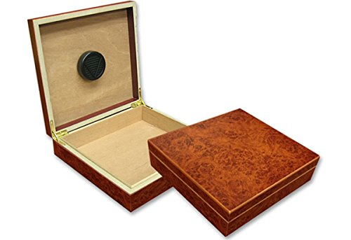 Prestige Import Group - The Chateau Small Humidor - Capacity: 20 Cigars - Color: Burl 0