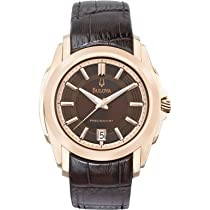 Bulova 97B110 Mens Brown Precisionist Watch