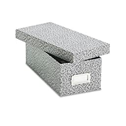 Oxford - Card File With Lift-Off Lid Holds 1200 3 X 5 Cards Black/White Paper Board \