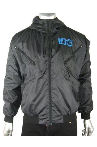 Mens Location Goggle Bomber Rain Hooded Jacket Coat L