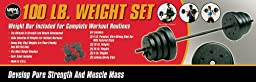 US Weight F9100- 100 lb Traditional Weight Set