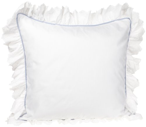 Croscill Home Princess 26-Inch By 26-Inch European Sham , White front-852089