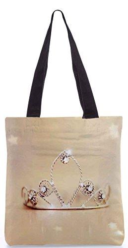 Snoogg Tiara Cute Poly Canvas Tote Bag