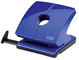Novus B 225 25 Sheet Capacity Hole Punch with Lock Down Handle - Blue