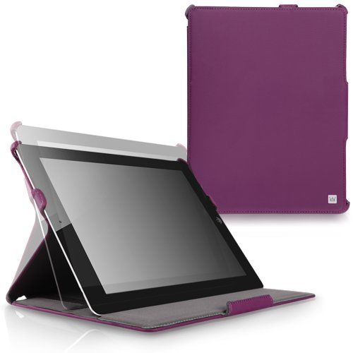 CaseCrown Ace Flip Case (Purple) for iPad 4th Generation with Retina Display, iPad 3 & iPad 2 (Built-in magnet for sleep / wake feature)