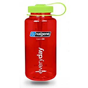 nalgene wide mouth water bottle in christmas colors 32 oz red w green cap. Black Bedroom Furniture Sets. Home Design Ideas