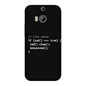 Ajay Enterprises True Real Programer Life Back Case Cover for HTC One M8