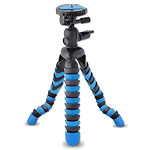 AVAWO Universal 12 Inch Flexible Tripod Wrapable Leg Quick Release Plate for GoPro HERO 1 2 3 3+ 4, iPhone 6 6S Plus 5S Samsung S4 S5 S6 Smartphone + GoPro Tripod Mount + Cell Phone Tripod Adapter
