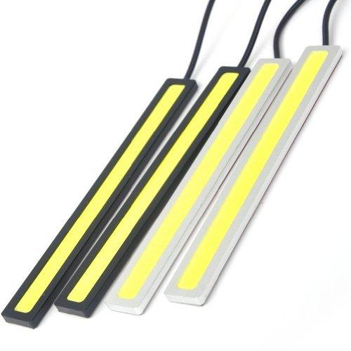 E-Prance New Drl Daytime Running Light Kit Led Fog Light Lamp,Black+Yellow