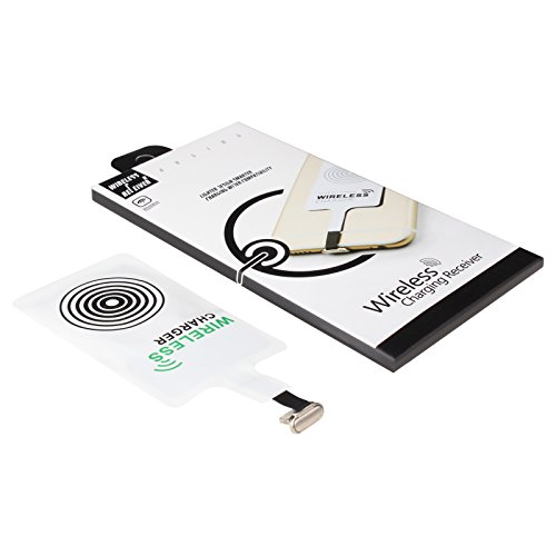 Wireless Charging Receiver,DBtech Portable Qi Standard Smart Charger Adapter Receptor Coil For iPhone SE 5 5C 5S 6 6S (Camaro Iphone 5s compare prices)