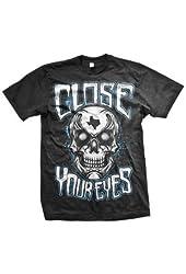 Close Your Eyes Texas Skull T-shirt