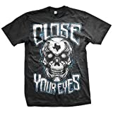 Close Your Eyes Texas Skull T-shirt
