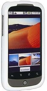 Amzer 86579 Polished White Snap on Crystal Hard Case for HTC Nexus one PB99100, Google Nexus one PB99100