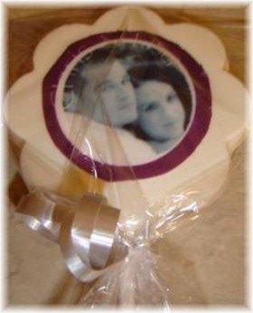 Edible Photo Chocolate Lollipop Wedding Favor 12