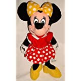Disney Store Minnie Mouse Bean Bag Doll Yellow Bow