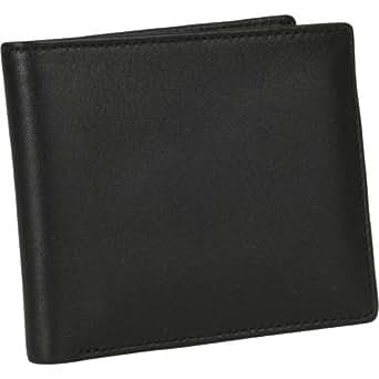 Men's Royce Leather Bi - Fold Wallet with Double ID Flap, BLACK