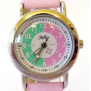 Reflex - 105013cc - Girls Watch Learn To Tell The Time Watch With To And Past Dial With Pink Strap by Reflex