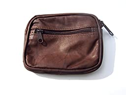 Coin Purse Made From Natural Leather, Brown