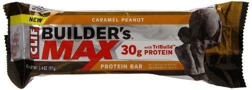 Clif Bar Builder'S Max Bar, Caramel Peanut, 9 Count