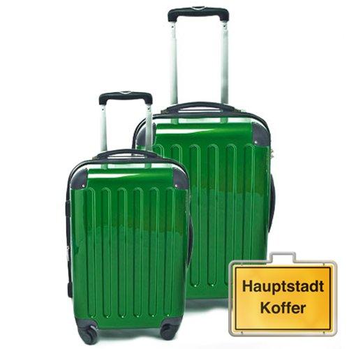 HAUPTSTADTKOFFER 2er Set Metallic Grün (87Liter/130Liter)