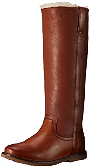 FRYE Women's Celia Shearling Tall Winter Boot,  Cognac, 8.5 M US