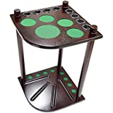 Billiard Depot 8 Pool Cue Rack - Billiard Cue Stick - Deluxe Floor Corner Cue Rack - Hold 8 Pool Cues