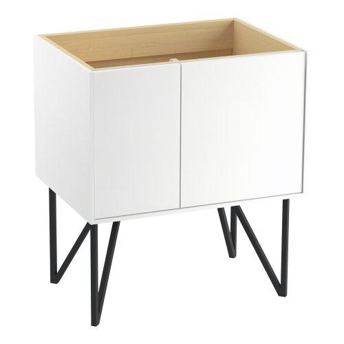 Kohler K-99541-Lgl-1Wa Jute Vanity With Furniture Legs 1 Door And 1 Drawer On Left, 30-Inch, Linen White