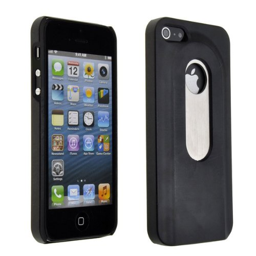Neewer® Black Beer Bottle Opener Slide In/Out Case Cover For Apple Iphone 5 5G front-757299