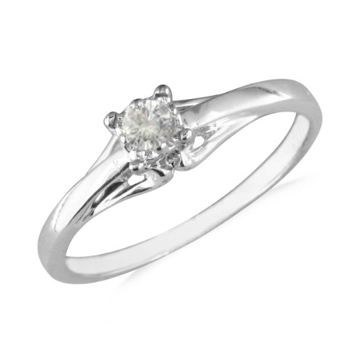 10k white gold solitiare promise ring available
