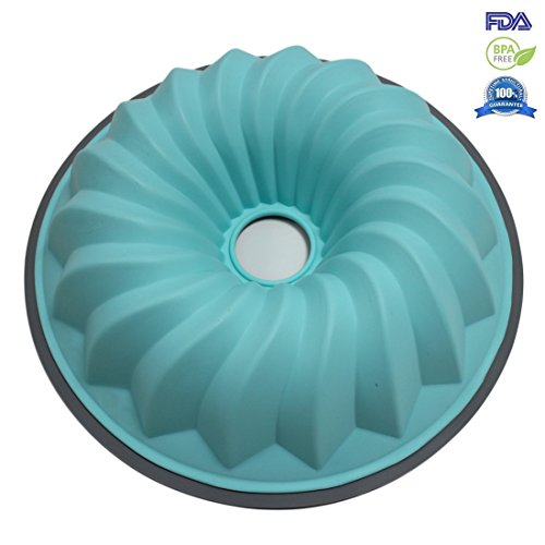 Fontaine Oven Bakeware Large Silicone Bundt Pan Chiffon Cake