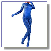 Women's Magical Fancy Cosplay Zentai Jumpsuit Bodysuit Suit for Halloween Costume M
