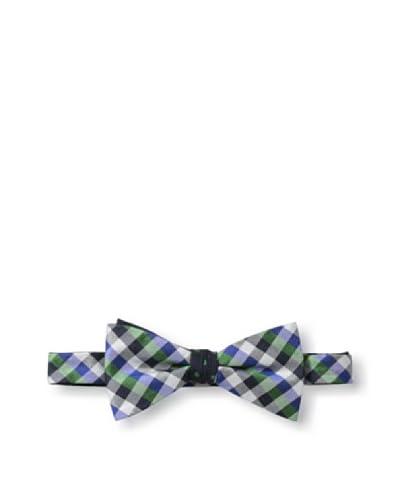 Ben Sherman Men's Reversible Pre-Tied Gingham Dot Bow Tie, Green