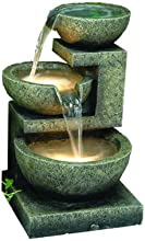 HI-LINE GIFT 3-Bowl Fountain with 2 Lights