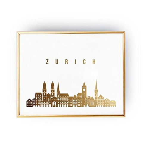zurich-print-zurich-skyline-zurich-cityscape-skyline-art-real-gold-foil-print-home-decor-switzerland