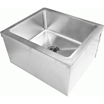 Floor Mount Utility Sink : Steel Floor Mount Mop Sink (24